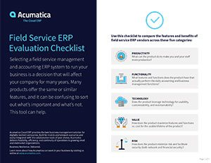 Field Service ERP: How Does Your Solution Stack Up?
