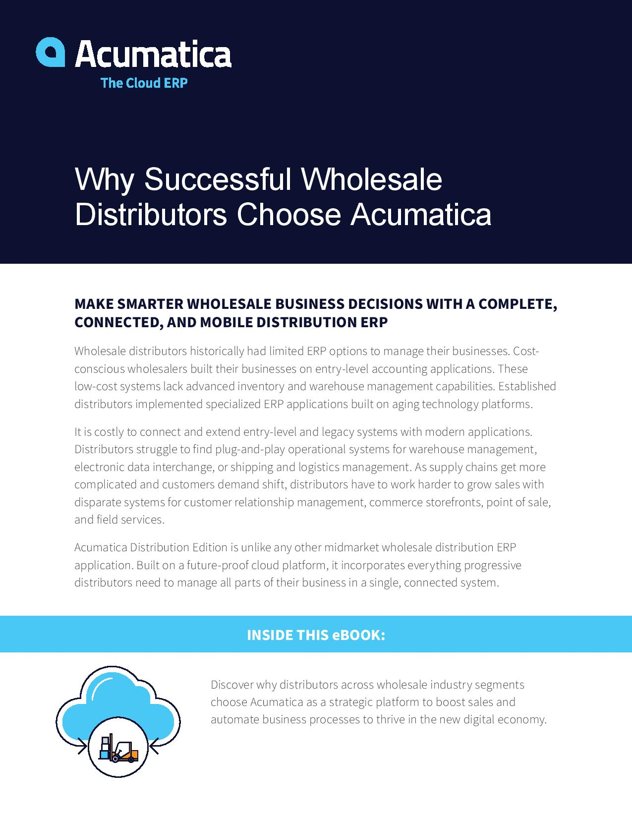 Best ERP for Distributors: Why Successful Companies Choose Acumatica, page 0