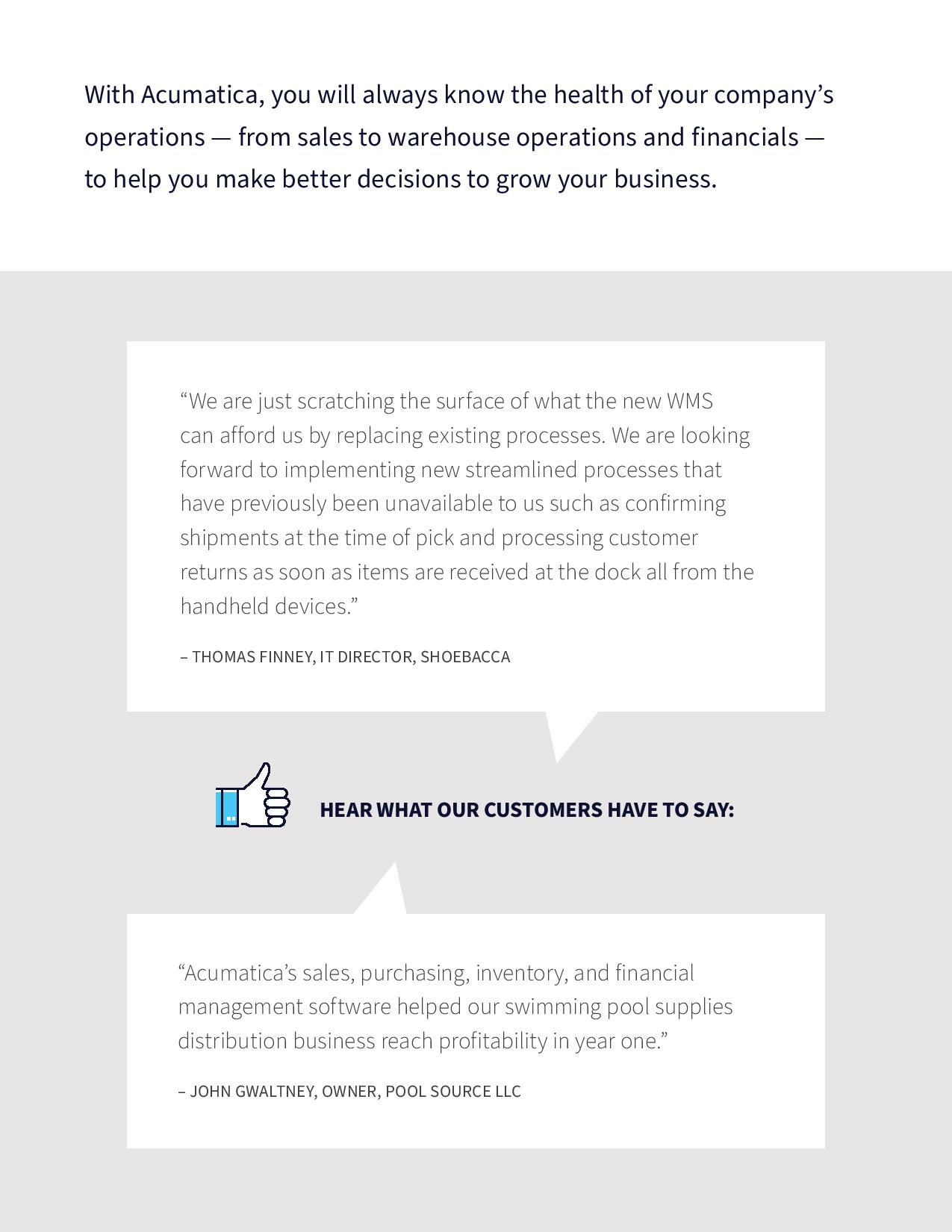 Best ERP for Distributors: Why Successful Companies Choose Acumatica, page 2