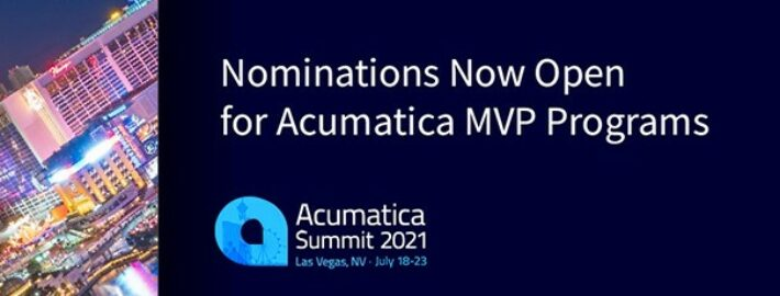 Nominations Now Open for Acumatica MVP Programs