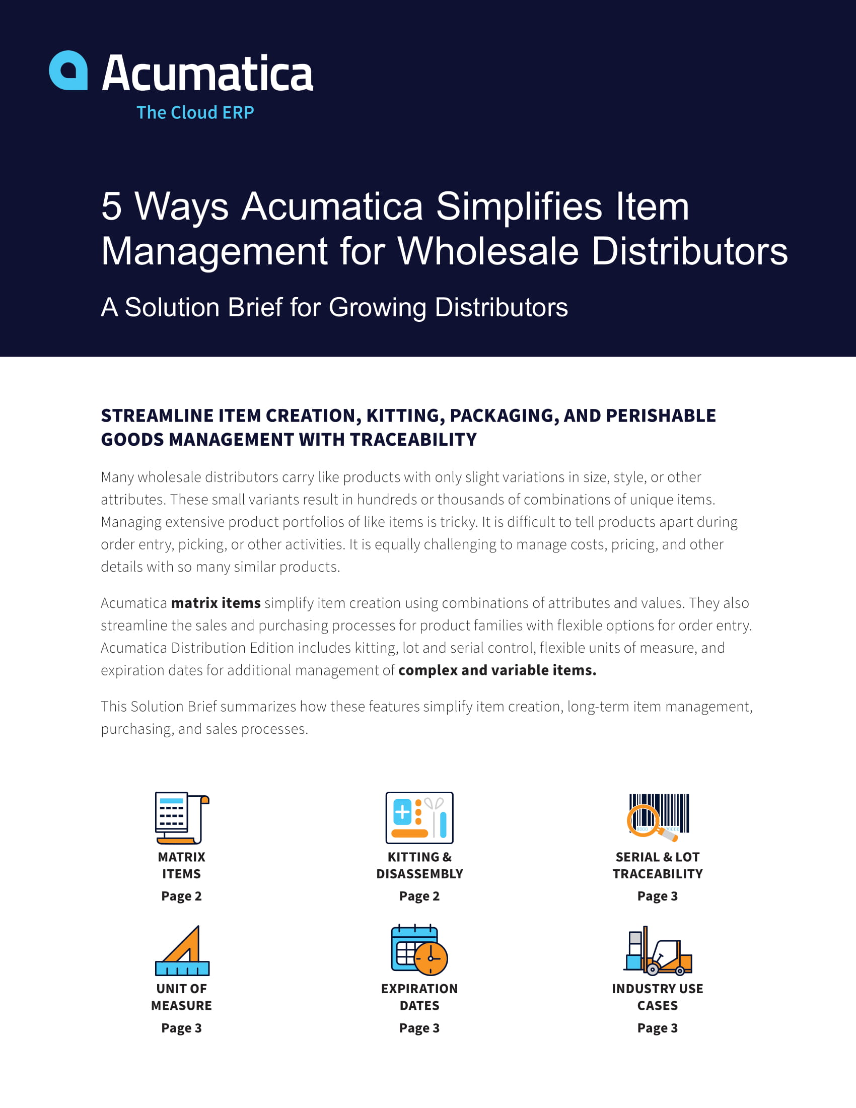 Explore the Item Management Software That's Built for Growing Distributors, page 0