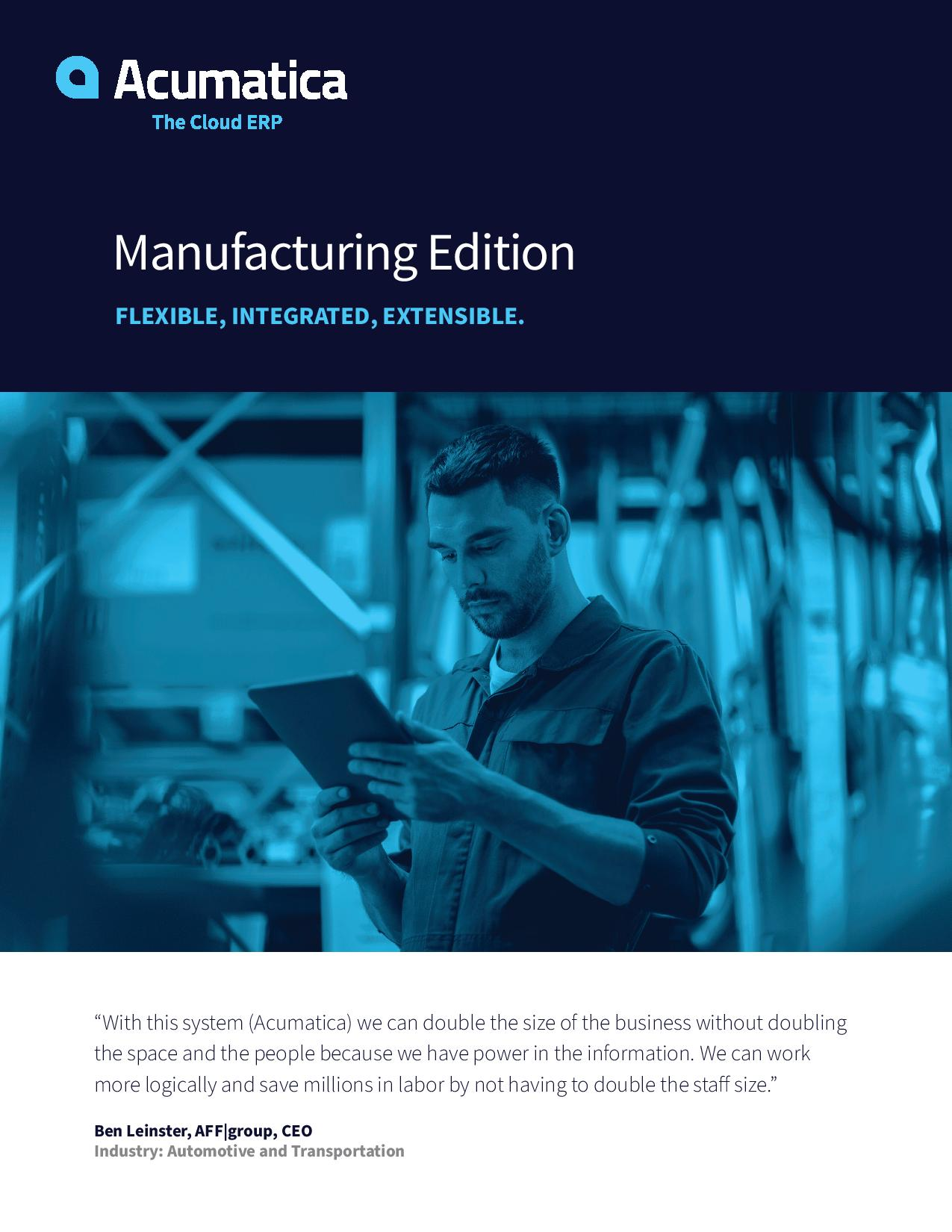 Manufacturing ERP Software That's Designed to Grow Your Revenue—Not Your Headcount, page 0