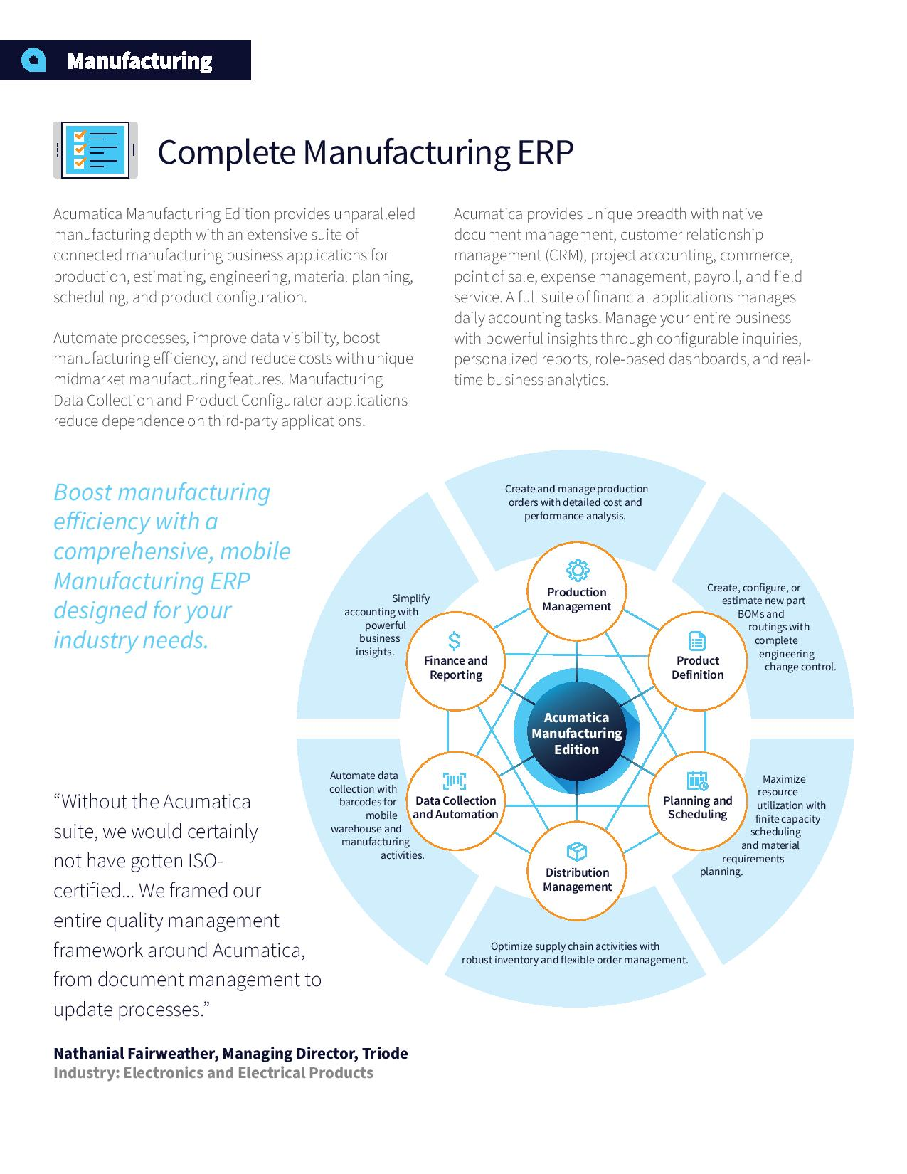 Manufacturing ERP Software That's Designed to Grow Your Revenue—Not Your Headcount, page 1