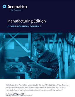 Manufacturing ERP Software That's Designed to Grow Your Revenue—Not Your Headcount