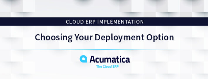 Cloud ERP Implementation: Choosing Your Deployment Option