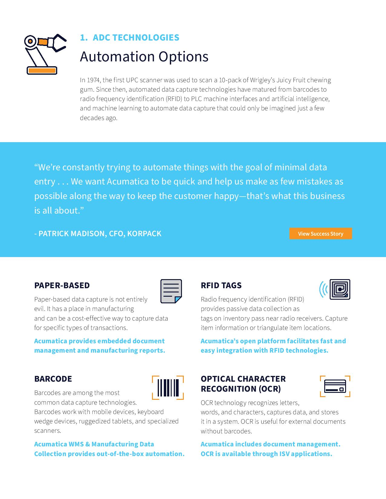 What Every Manufacturer Should Know About Automated Data Capture, page 1