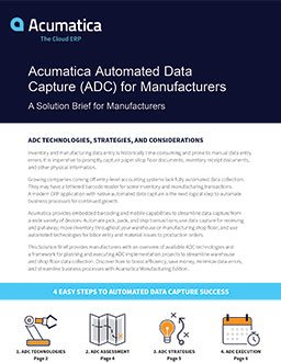 Automated Data Capture (ADC) for Manufacturers