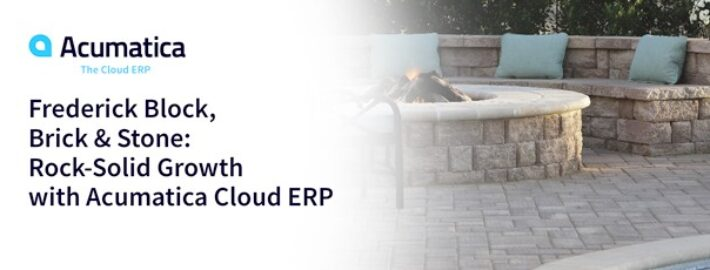 Frederick Block, Brick & Stone: Rock-Solid Growth with Acumatica Cloud ERP
