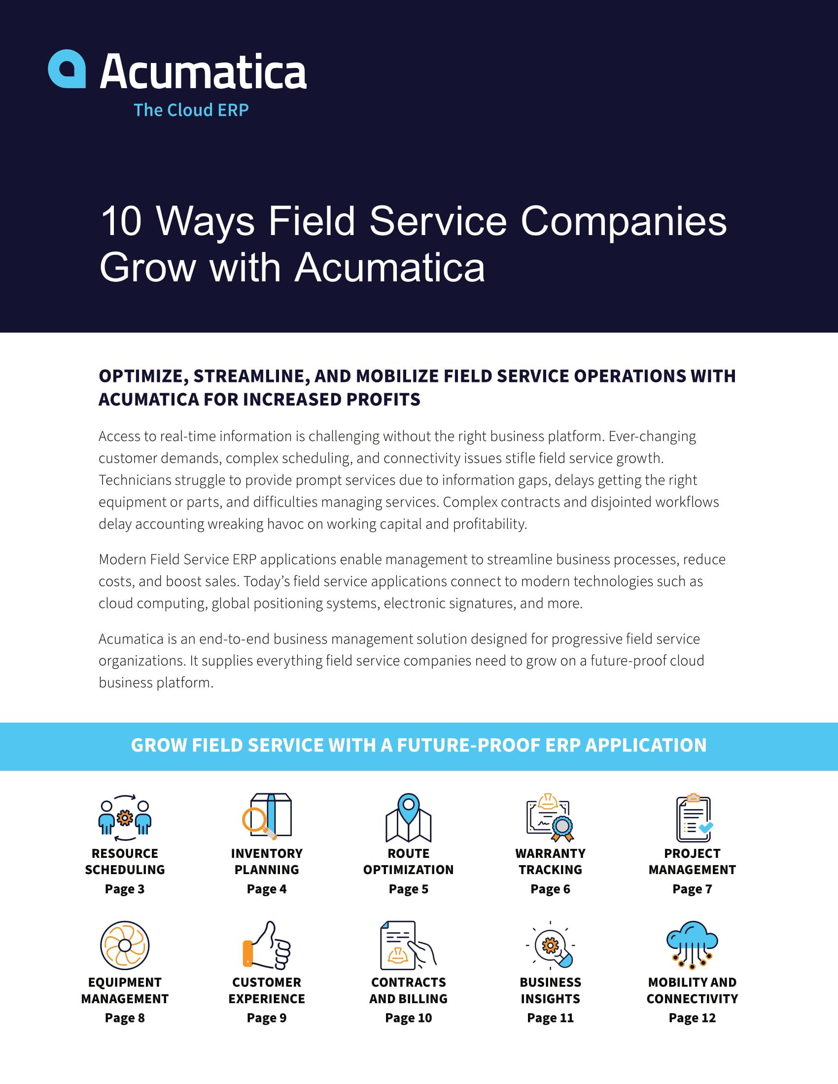 10 Ways Field Service Companies Grow with Acumatica
