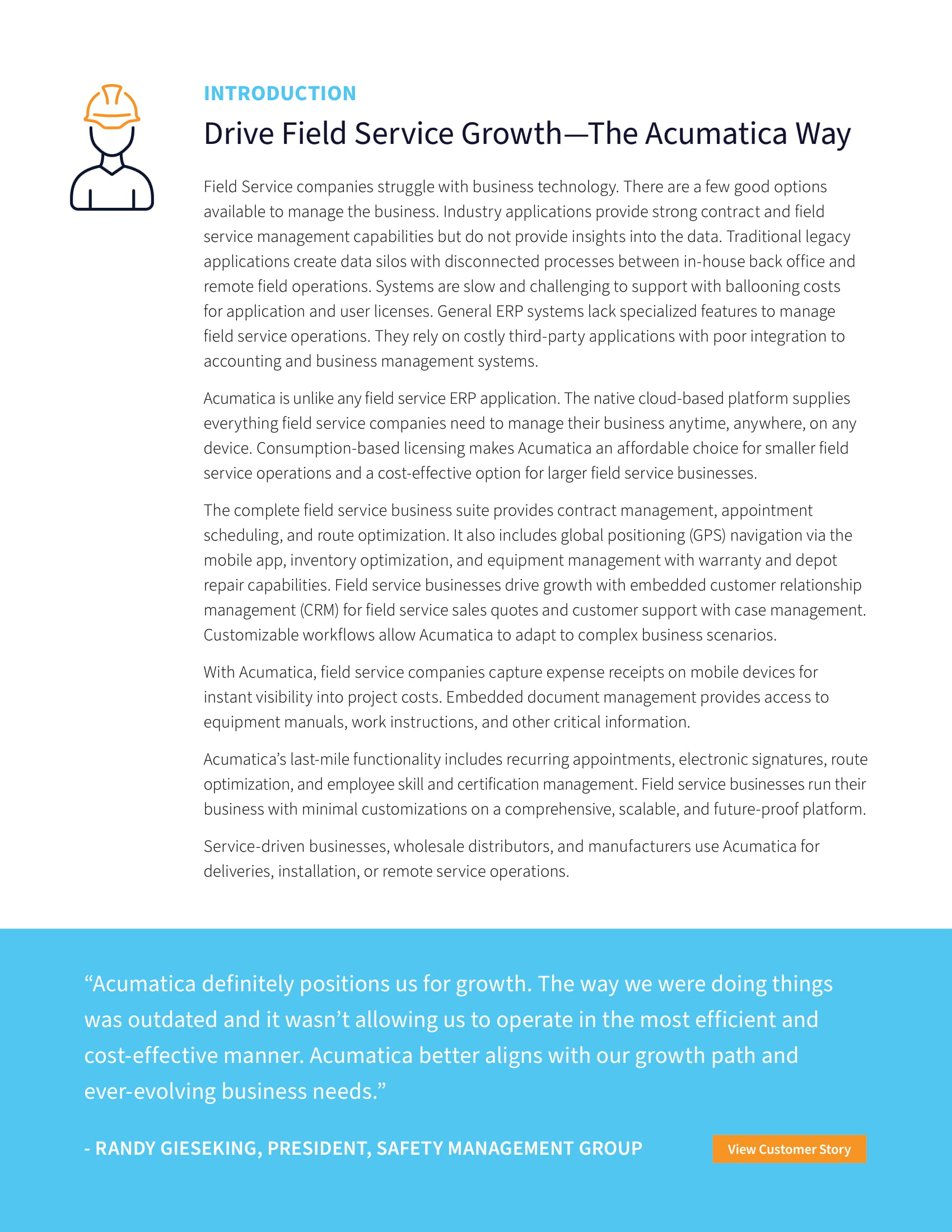 Optimize Field Service Operations—and Grow Your Business, page 1