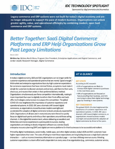 BigCommerce and Acumatica: A Unified Ecommerce & ERP Solution