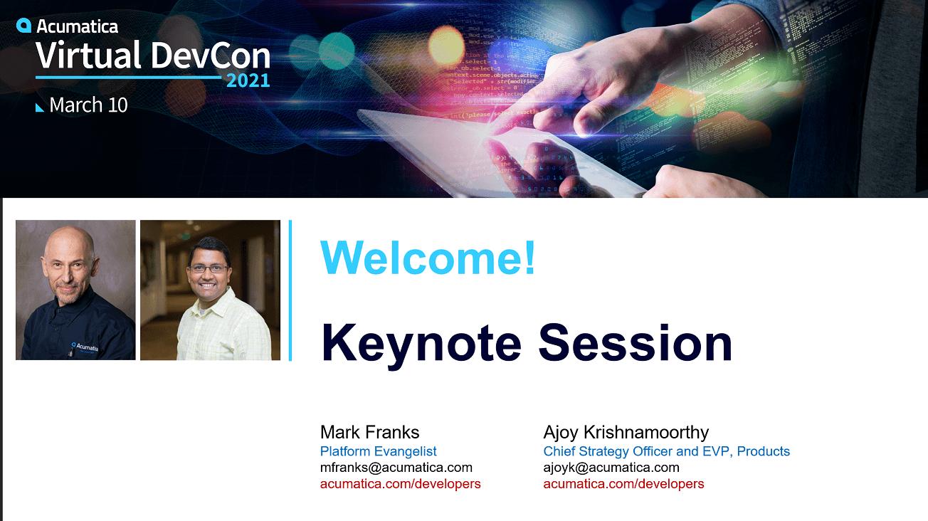 2021 DevCon - Keynote Sesson