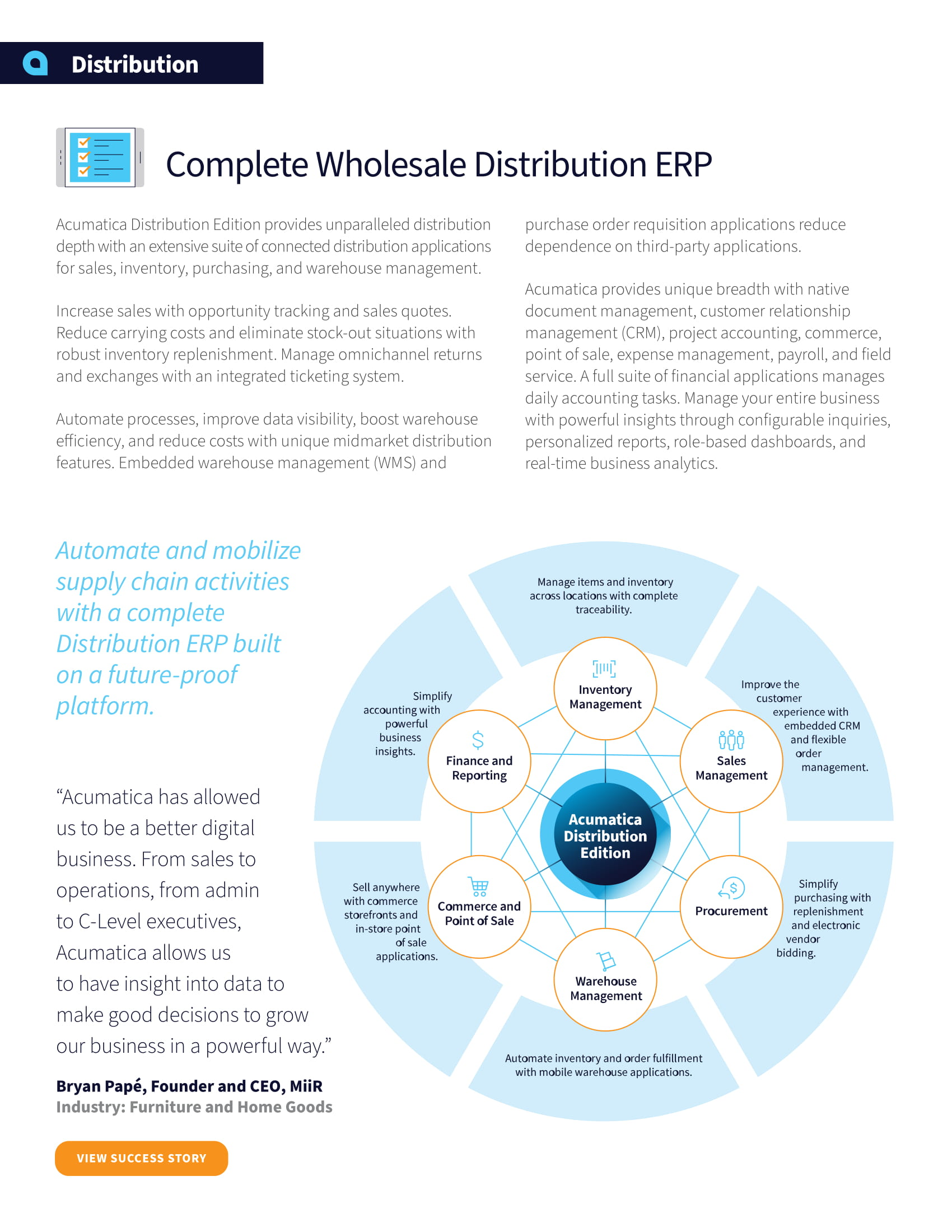 Distribution ERP: Find the Best Blend of Functionality and Simplicity, page 1