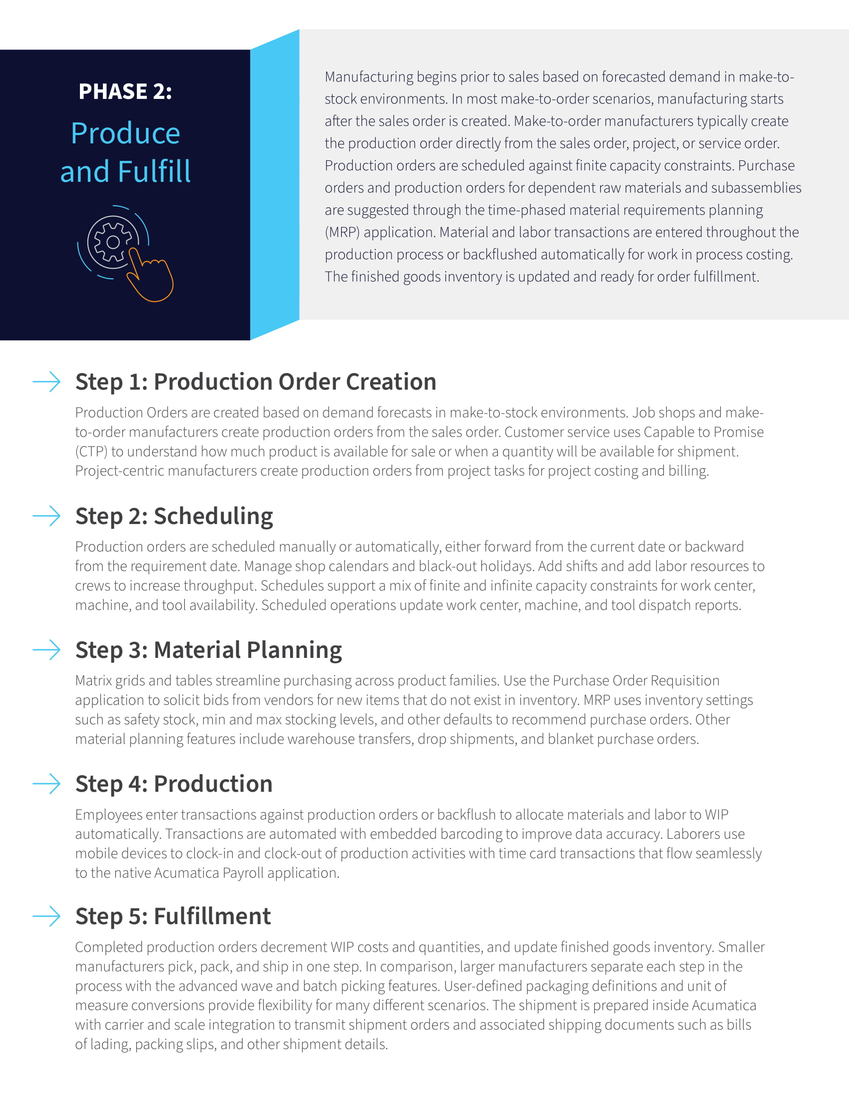 Improve Manufacturing Cash Flow with a Flexible and Automated ERP Application, page 2