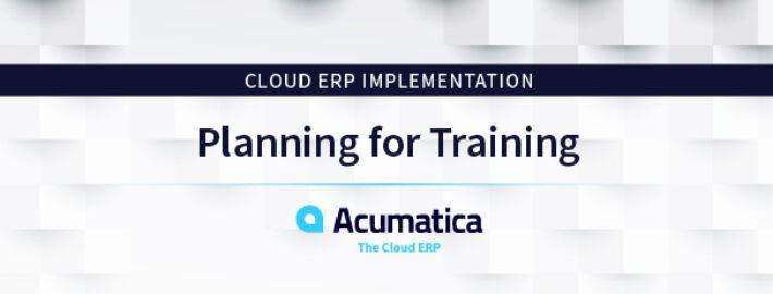 CloudERPImplementation:Planning for Training
