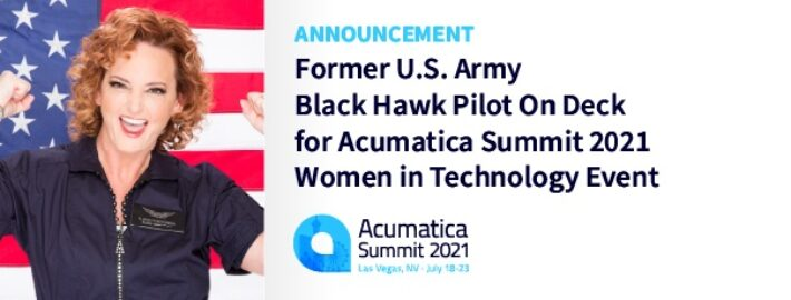 Former U.S. Army Black Hawk Pilot On Deck for Acumatica Summit 2021 Women in Technology Event