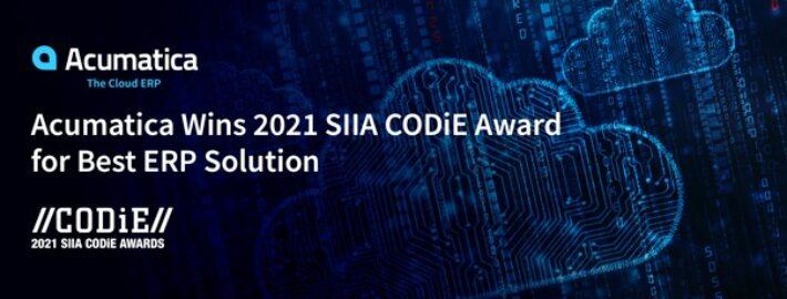 Acumatica Cloud ERP Wins 2021 SIIA CODiE Award for Best ERP Solution