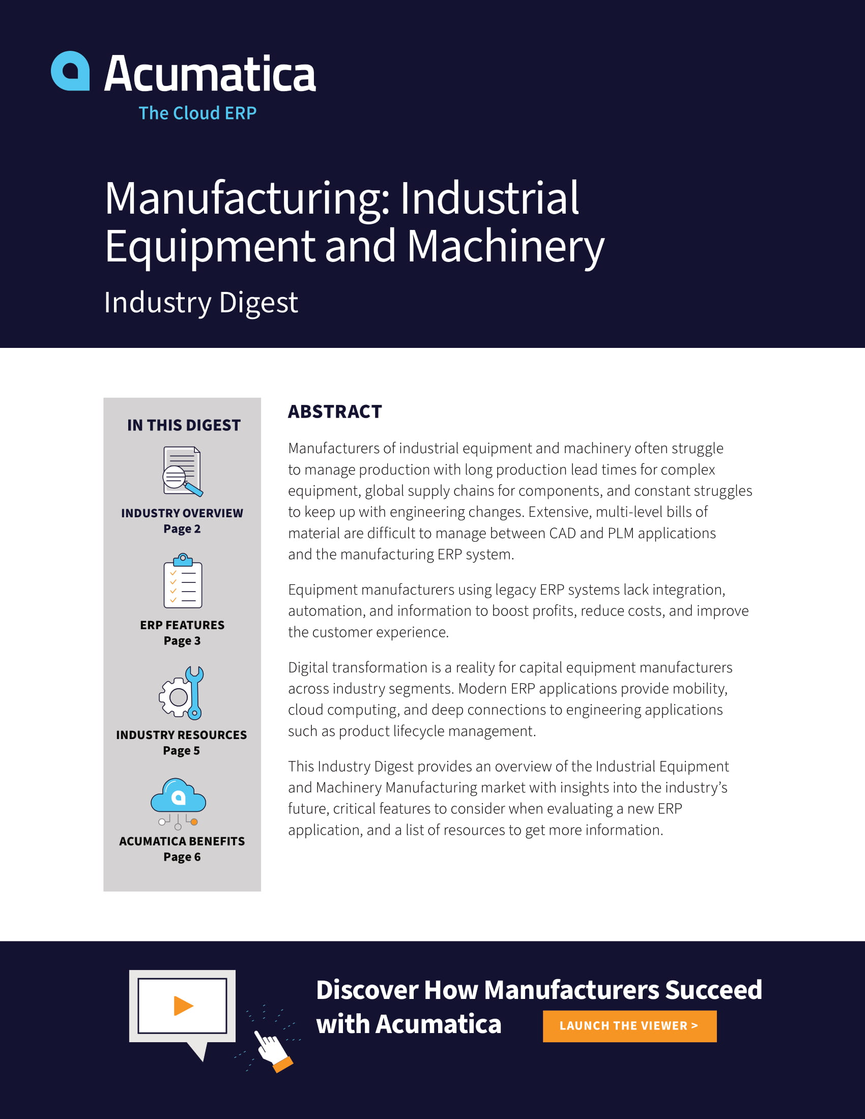 Find an Industrial Machinery and Equipment Manufacturing ERP with This Guide