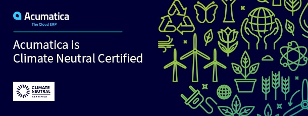 Acumatica is Climate Neutral Certified