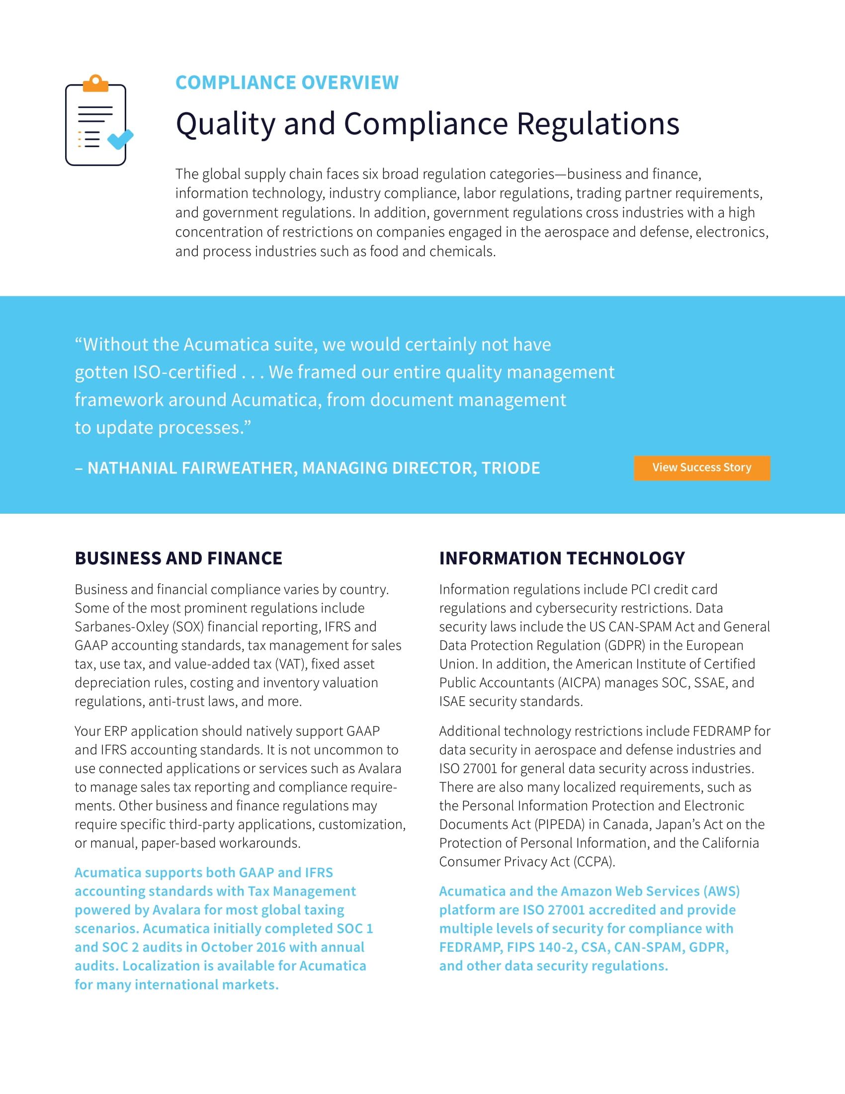 Quality Compliance Software Made Simple, page 1