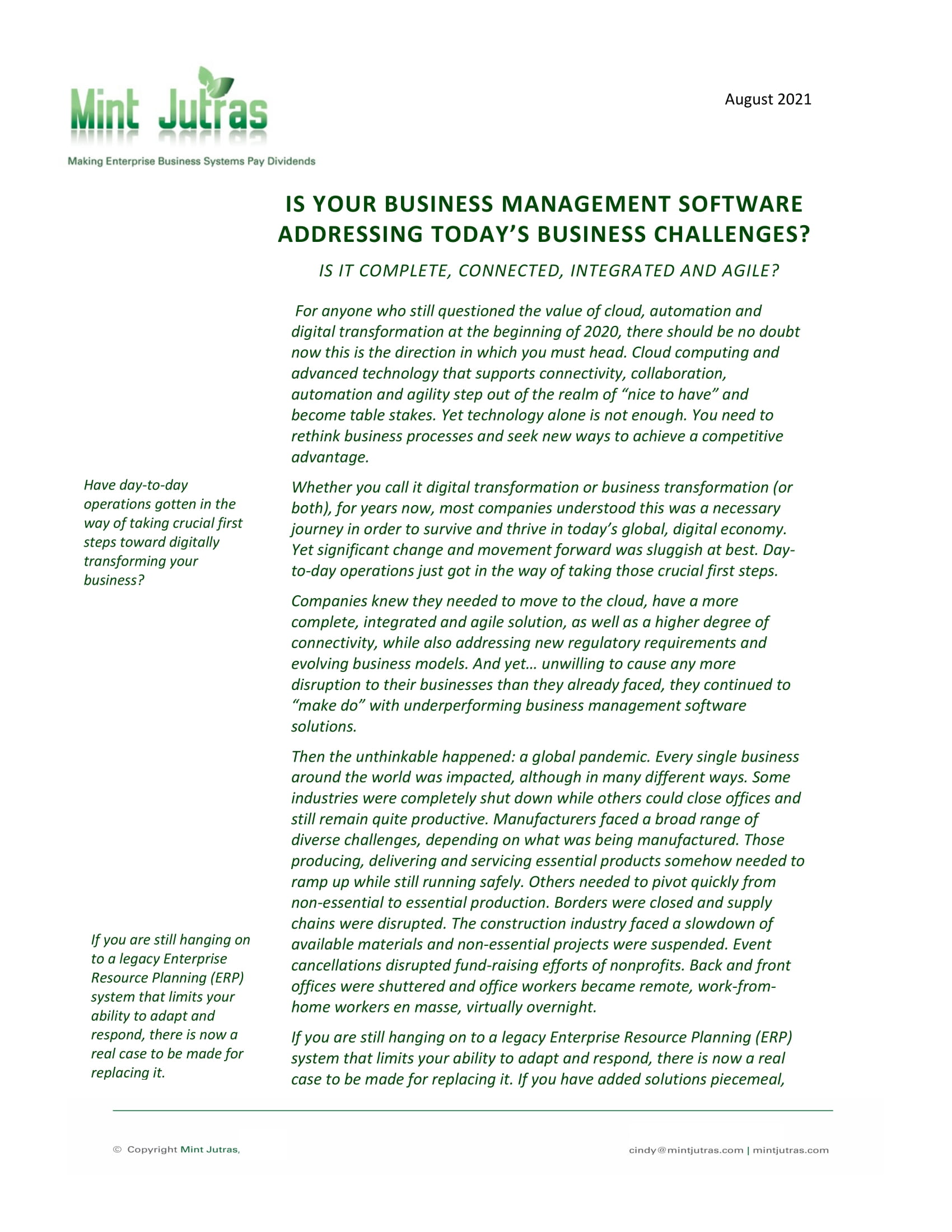 Time to Replace Your Legacy ERP System?