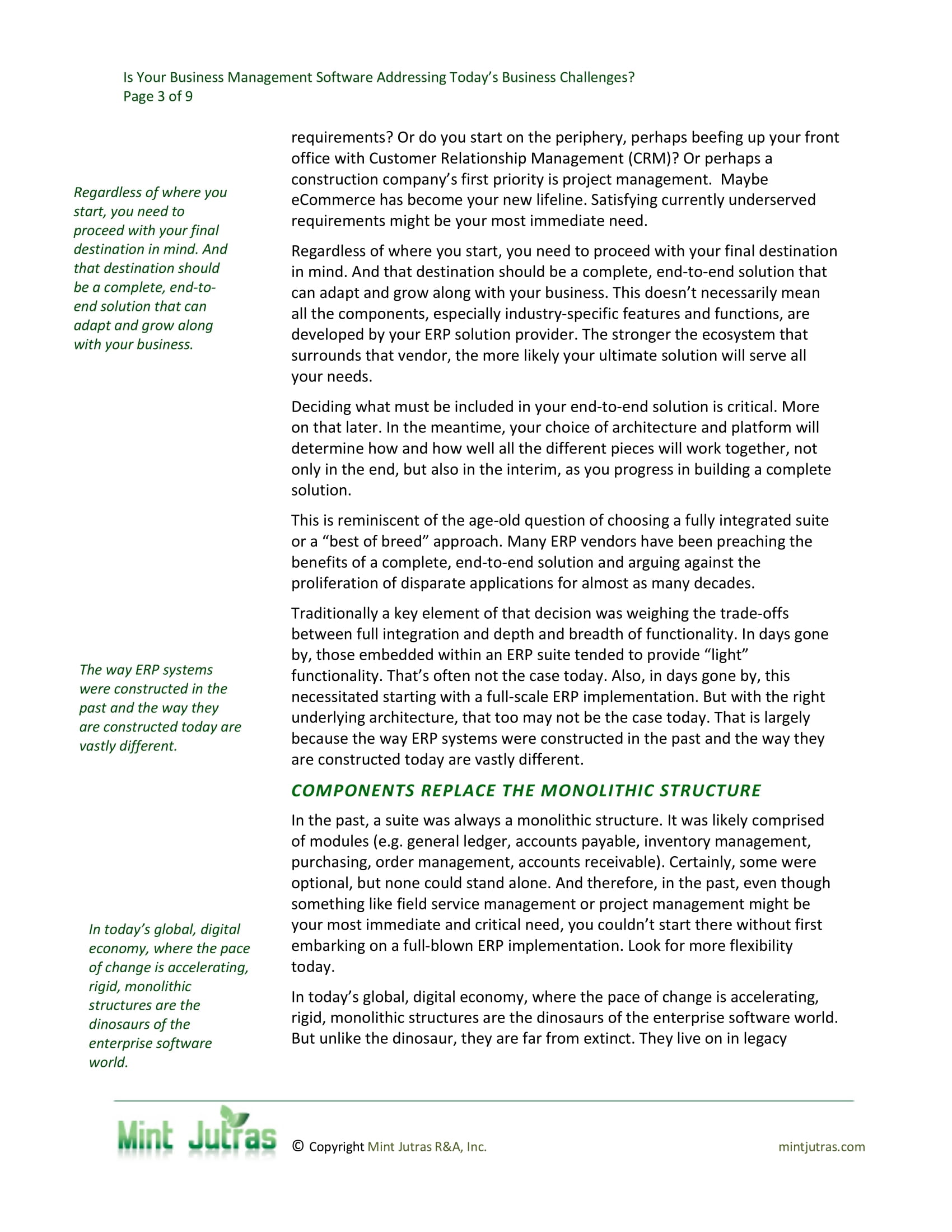 Meet Today's Business Challenges by Replacing Your Legacy ERP System, page 2