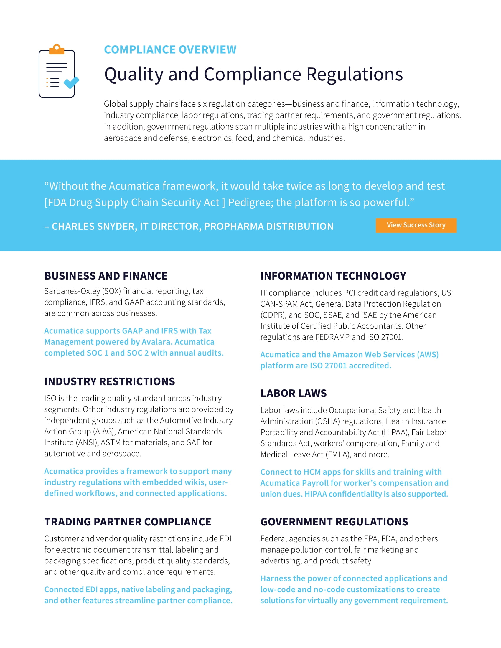 Simplify Compliance with Quality Management ERP Software, page 1
