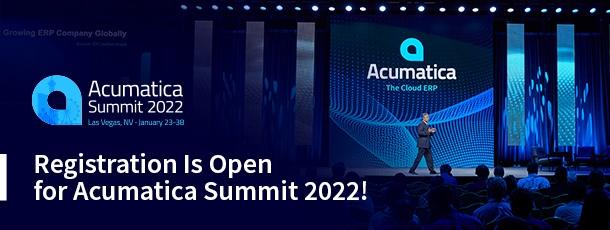 Registration Is Open for Acumatica Summit 2022!