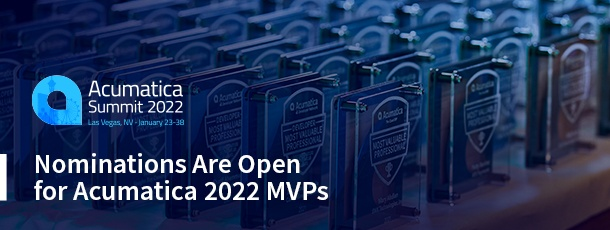 Nominations Are Open for Acumatica 2022 MVPs