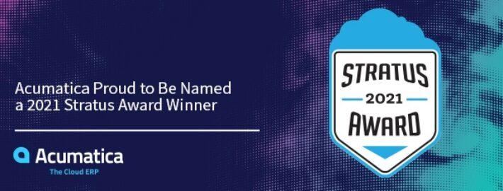 Acumatica Proud to Be Named a 2021 Stratus Award Winner